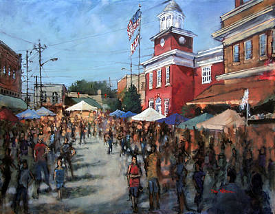 Painting - Hot Sauce Festival by Dan Nelson