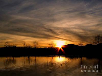 Photograph - Hot Shimmering Sunset by Scott B Bennett