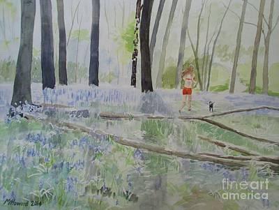 Hot Spring Bluebell Jogger Art Print by Martin Howard