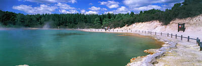 Champagne Photograph - Hot Spring, Champagne Pool, Waiotapu by Panoramic Images