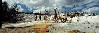 Mammoth Hot Springs Photograph - Hot Spring On A Landscape, Angel by Panoramic Images