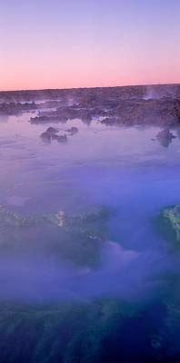 Hot Springs In A Lake, Blue Lagoon Art Print by Panoramic Images