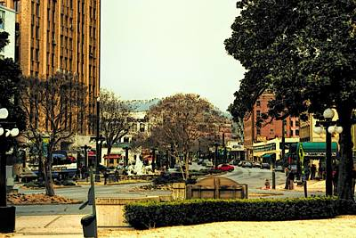 Photograph - Hot Springs Downtown In Oil by Diana Mary Sharpton