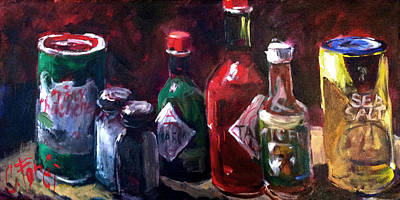 Tabasco Painting - Hot Stuff by Carole Foret