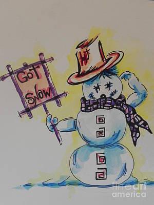 Hot Stuff.... Got Snow Art Print by Chrisann Ellis