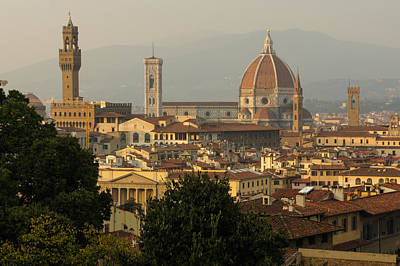 Hot Summer Afternoon In Florence Italy Art Print by Georgia Mizuleva