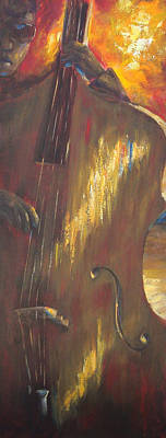 Music Paintings - Hot Summer Night part 2 of 3 by Kathleen Tucker