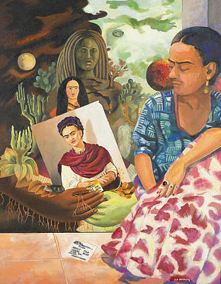 Painting - Hot Ticket Frida Kahlo Meta Portrait by Susan McNally