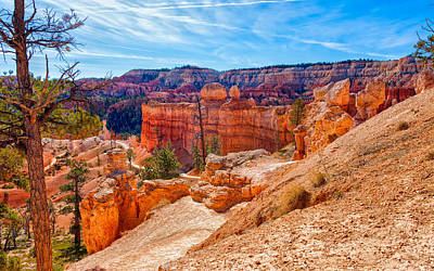 Photograph - Hot Trails Through Red Rock by John M Bailey