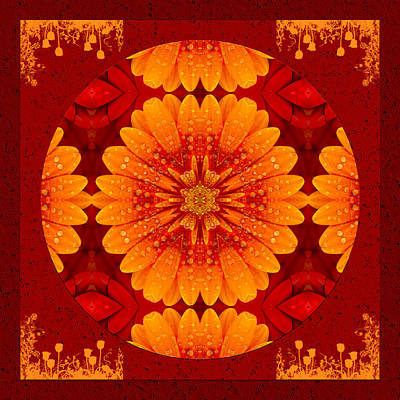 Kaleidoscope Digital Art - Hot Tropical Zen by Georgiana Romanovna