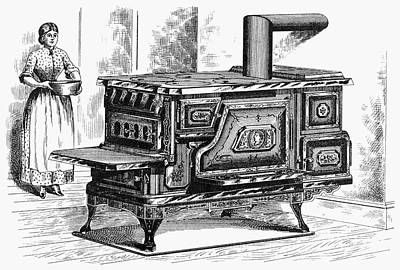 Hot Water Oven, 1875 Art Print by Granger