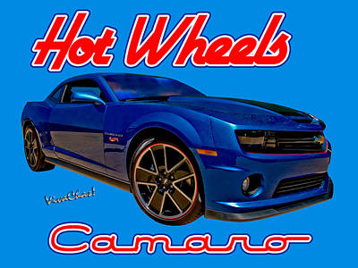 Hot Wheels Camaro Art Print