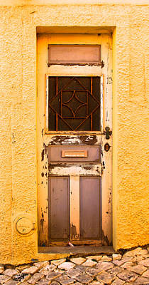Spain Photograph - Hot Yellow Door Of Portugal by Calvin Hanson