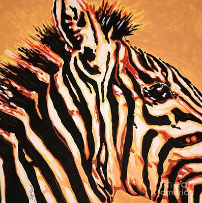 Peter Max Painting - Hot Zebra by Jana Furzer