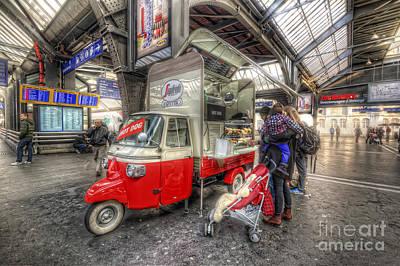 Photograph - Hotdog Stand At Hauptbahnhof by Yhun Suarez