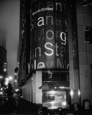 Photograph - Hotdog Stand Times Square Dawn by Dave Beckerman