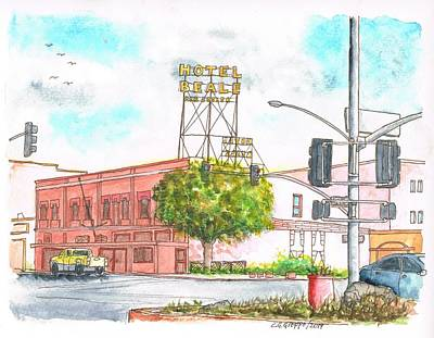 Beale Street Painting - Hotel Beale In Route 66, Andy Devine Ave., Kingman, Arizona by Carlos G Groppa