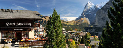Eiger Photograph - Hotel Alpenruh With Mt Eiger by Panoramic Images