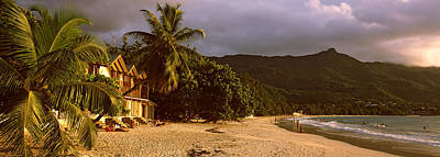 Enjoyment Photograph - Hotel Apartments On Beau Vallon Beach by Panoramic Images