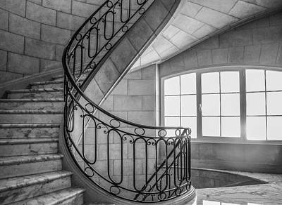 Photograph - Marble Staircase by Judith Barath