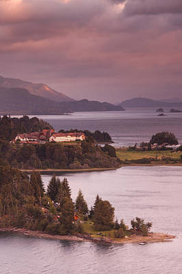 Hotel At The Lakeside, Llao Llao Hotel Art Print by Panoramic Images