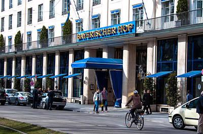 Hotel Bayerischer Hof In Munich Print by Frank Gaertner