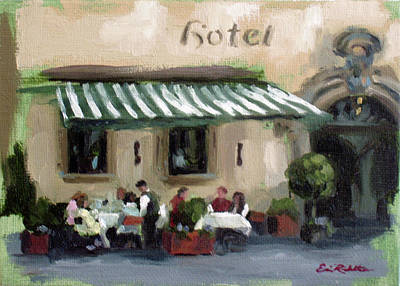 Painting - Hotel Cafe' by Erin Rickelton
