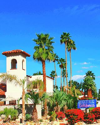 Hotel California Palm Springs Art Print by William Dey
