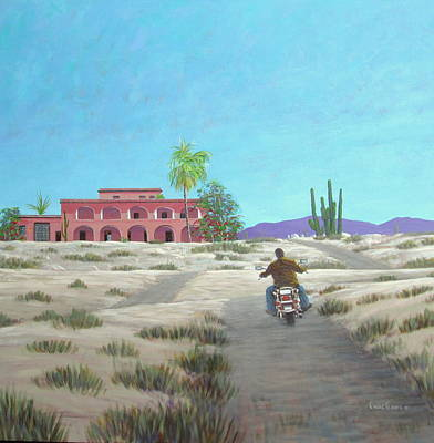 Wall Art - Painting - Hotel California Ride by Chris MacClure