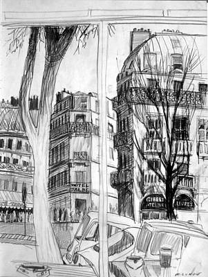 Drawing - Hotel D'albe by Mark Lunde