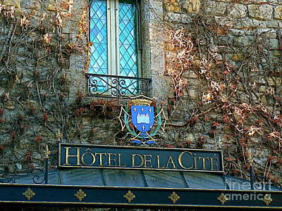 Cathar Country Photograph - Hotel De La Cite by France  Art