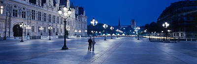 Hotel De Ville & Notre Dame Cathedral Art Print