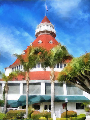 Painting - Hotel Del Coronado by Ann Powell