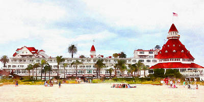 Photograph - Hotel Del Coronado In Coronado California 5d24255wcstyle Long by Wingsdomain Art and Photography