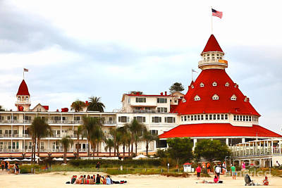 Photograph - Hotel Del Coronado In Coronado California 5d24256painterly by Wingsdomain Art and Photography