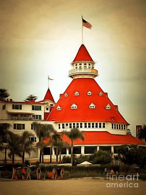 Photograph - Hotel Del Coronado In Coronado California 5d24266brun by Wingsdomain Art and Photography
