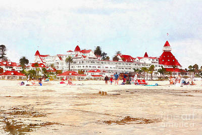 Photograph - Hotel Del Coronado In Coronado California 5d24307wcstyle by Wingsdomain Art and Photography
