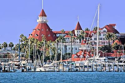 Photograph - Hotel Del Coronado Seaside by Jane Girardot
