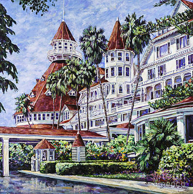 Painting - Hotel Del Entrance by Glenn McNary