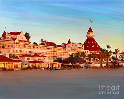 Mixed Media - Hotel Del Sunset by Glenn McNary