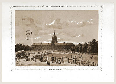 Hotel Des Invalides Drawing - Hotel Des Invalides, Paris And Surroundings by Litz Collection