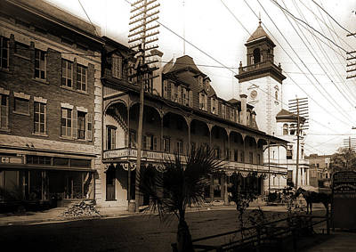 Hotel Duval And Post Office, Jacksonville, Fla, Hotels Art Print