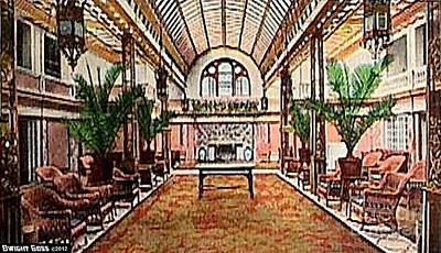 Painting - Hotel Endicott Sun Parlor by Dwight Goss