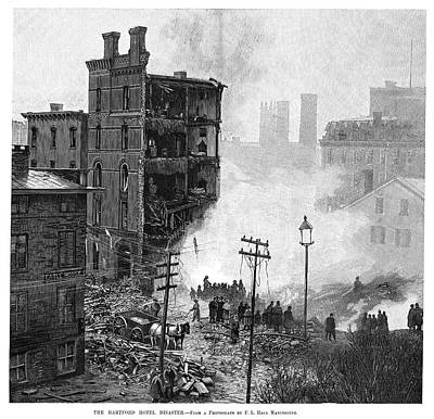 Boiler Painting - Hotel Explosion, 1889 by Granger