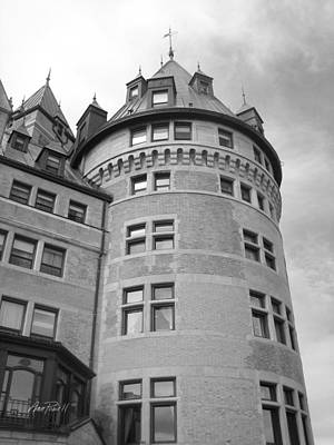 Whit Photograph - Hotel Frontenac Quebec City by Ann Powell