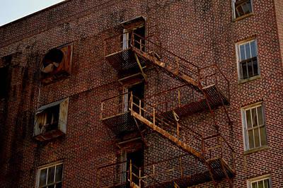 Hotel Grim Fire Escape Art Print by Joel Wright