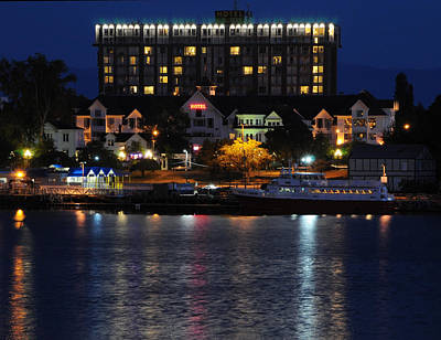 Hotel Harbor Lights Art Print