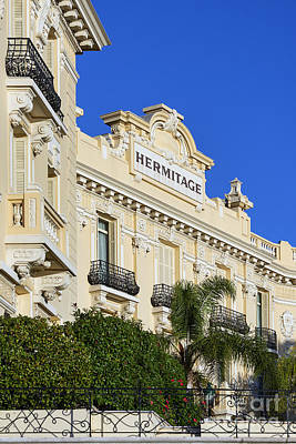 The Hermitage Photograph - Hotel Hermitage Monte-carlo by John Greim
