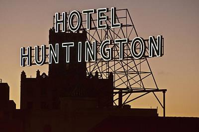 Hotel Huntington Art Print by Larry Butterworth