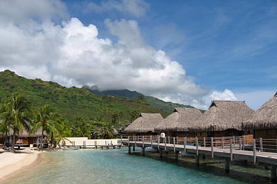 Photograph - Hotel In Moorea by Denise Mazzocco